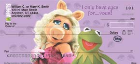 Miss Piggy Loves Kermie Personal Check Designs
